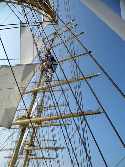 Royal Clipper Climbing the Rigging