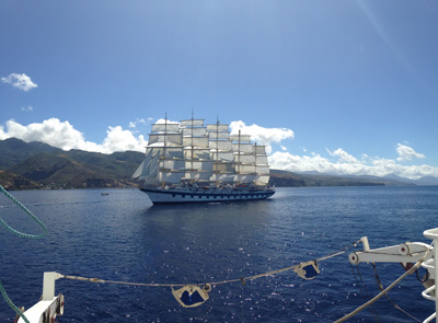 Royal Clipper from the deck