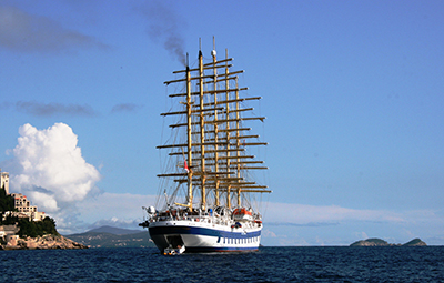 Royal Clipper in open waters